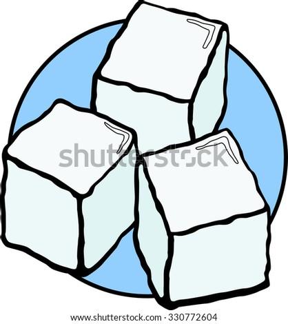ice cubes stock vector 330772604 shutterstock rh shutterstock com ice cube tray clipart ice cube tray clipart