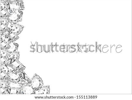 Ice cubes background.  - stock vector