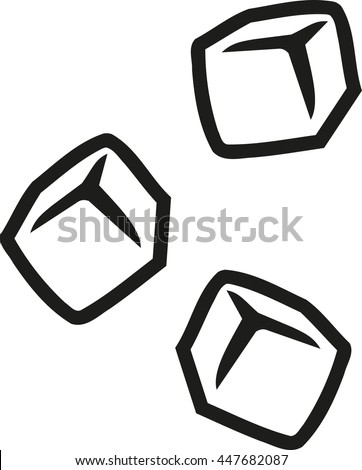 ice cubes outline stock vector 447682087 shutterstock rh shutterstock com ice cube vector free ice cube vector free download