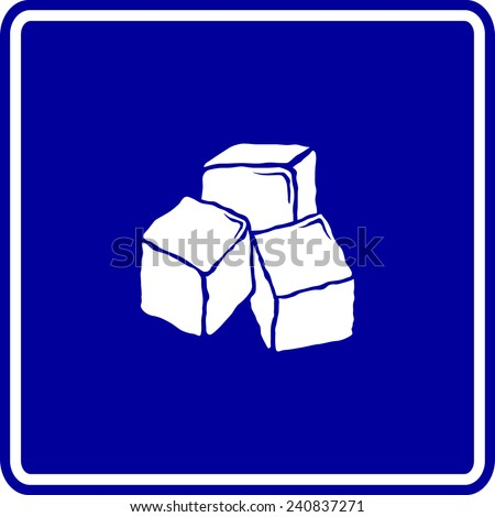 ice cubes sign - stock vector