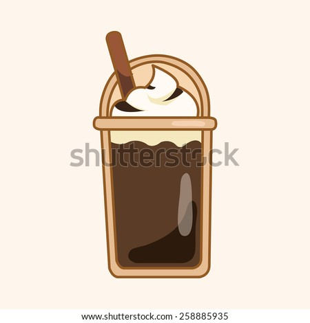 ice floating coffee theme elements - stock vector