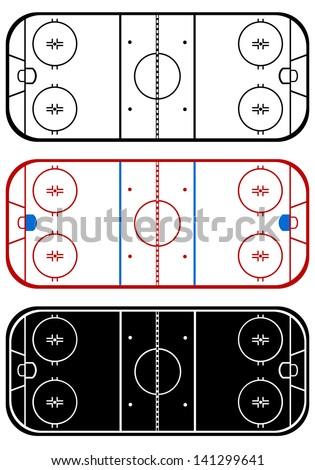Ice hockey field - stock vector