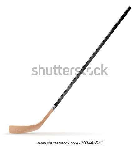 Ice hockey stick isolated on white background. Vector illustration - stock vector
