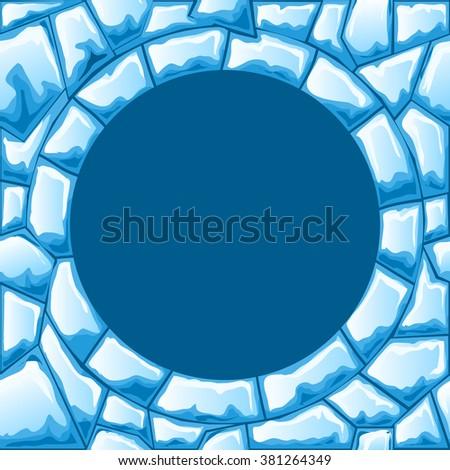 Ice seamless pattern - stock vector