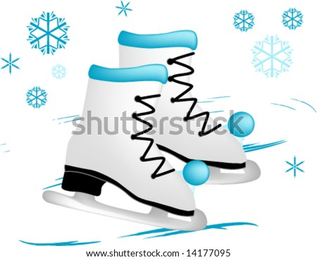 Ice skates - stock vector