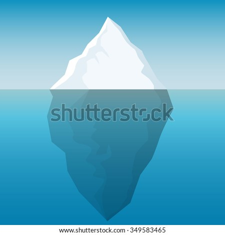 Iceberg background - stock vector
