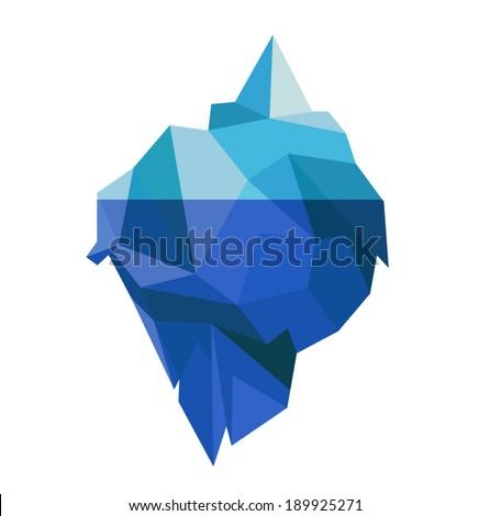 Iceberg Icon - stock vector