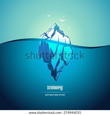 Iceberg icon. - stock vector