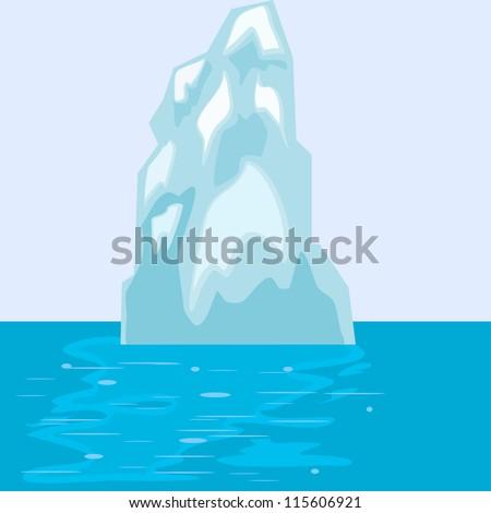 Iceberg in the sea. eps10 - stock vector