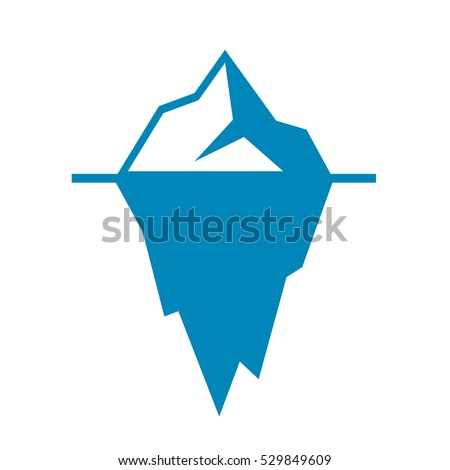Iceberg vector icon isolated on white background. Ice berg vector icon. Iceberg vector eps clip art.