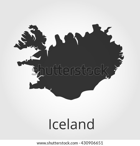 Iceland map icon. Vector illustration.