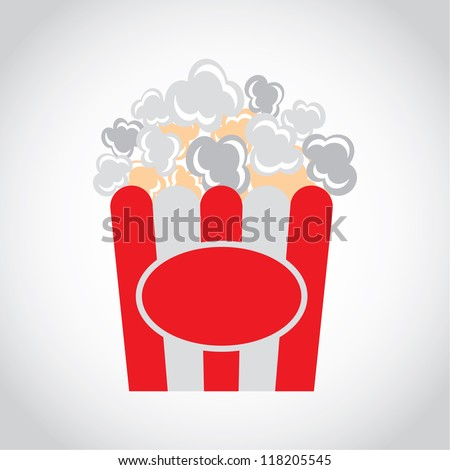 icon appetizing tasty Popcorn isolated on a white background - stock vector