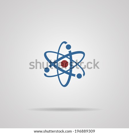 icon atomic with shadow. Vector illustrations - stock vector