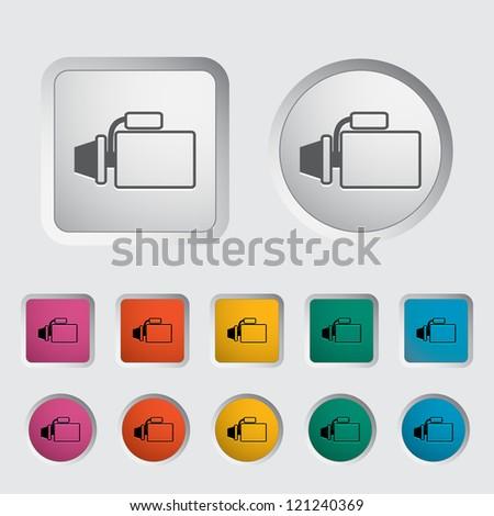 Icon automotive starter. Vector illustration. - stock vector