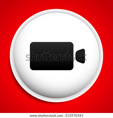 Icon / background with camera - stock vector