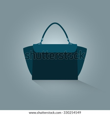 Icon bag on a light background.Vector