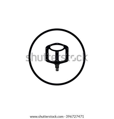 Icon bicycle pedal. - stock vector