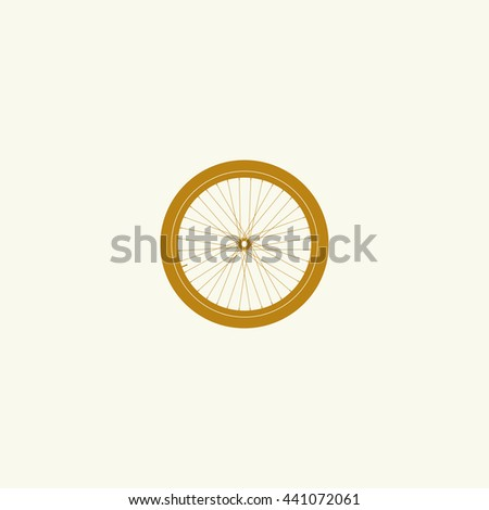 Icon bicycle wheel.