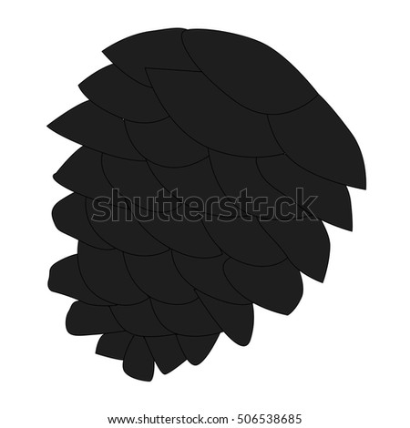 Pinecone Icon Isolated White Stock Photos, Royalty-Free ...