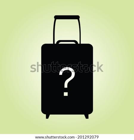 Icon Black suitcases - stock vector