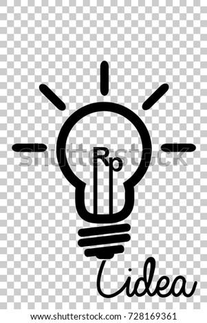 Icon Bulb Illustration Indonesia Business Idea Stock Vector (2018