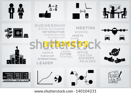 icon business - stock vector