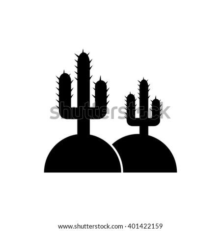 Icon cactus - stock vector