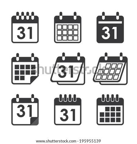 icon calendar - stock vector