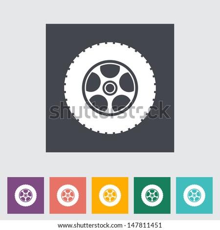 Icon car wheel. Vector illustration. - stock vector