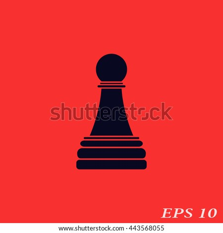 Icon chess pawn. - stock vector
