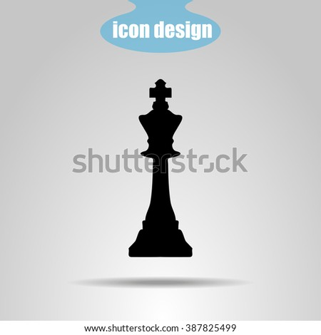 Icon  chess piece. King - stock vector