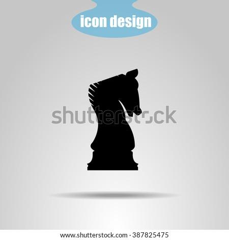 Icon  chess piece. Knight - stock vector