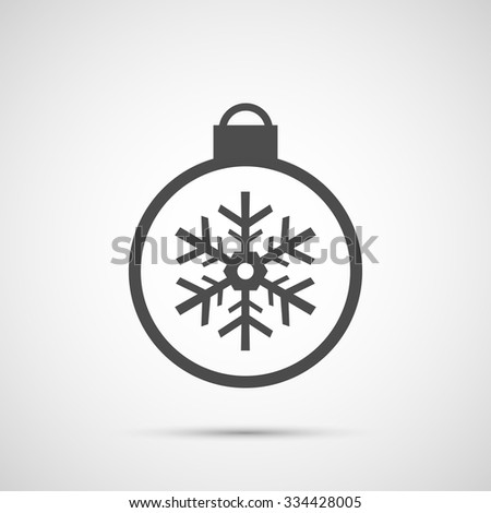 Icon Christmas snowflakes toy for holiday season. - stock vector