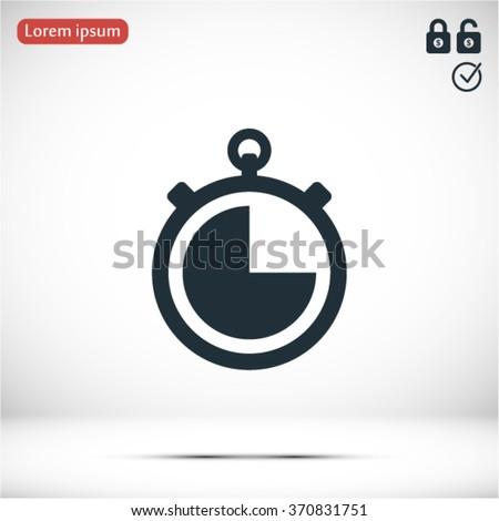 icon clock time vector - stock vector