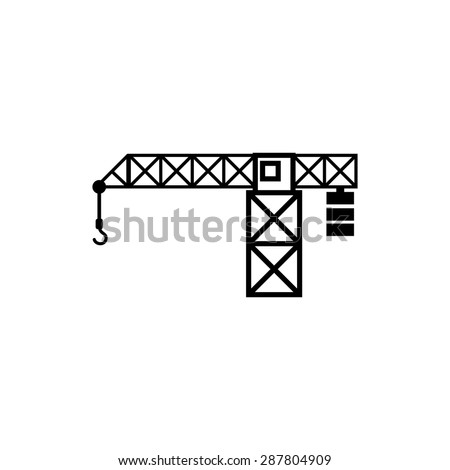Icon construction crane building - stock vector