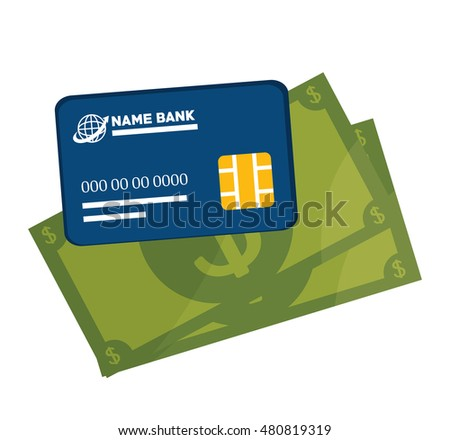 icon credit card e- commerce design