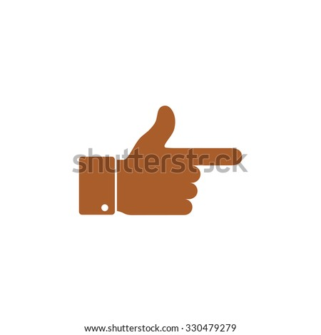 Icon cursor pointing finger. - stock vector