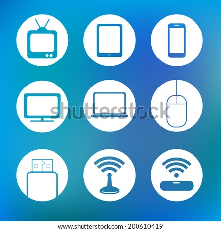 Icon device technology - stock vector