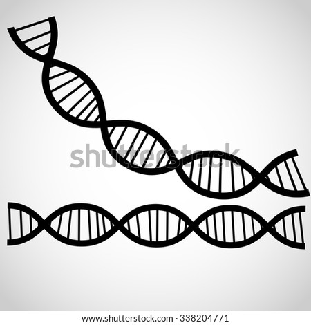 Icon DNA theme background .Vector - stock vector