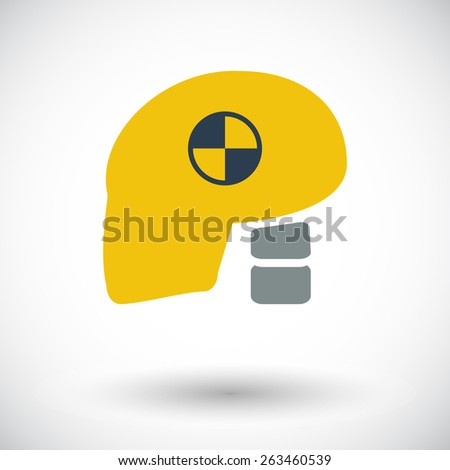 Icon dummy head for crash test. Single flat icon on white background. Vector illustration. - stock vector