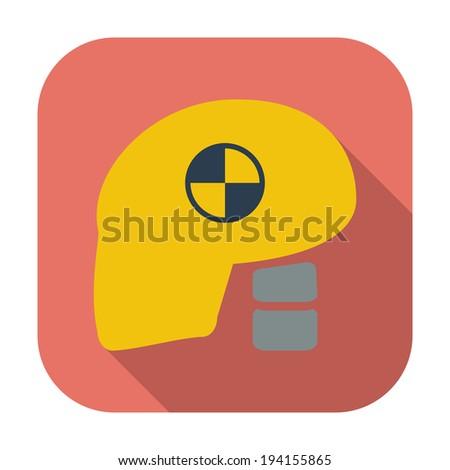 Icon dummy's head for crash test. Vector illustration. - stock vector