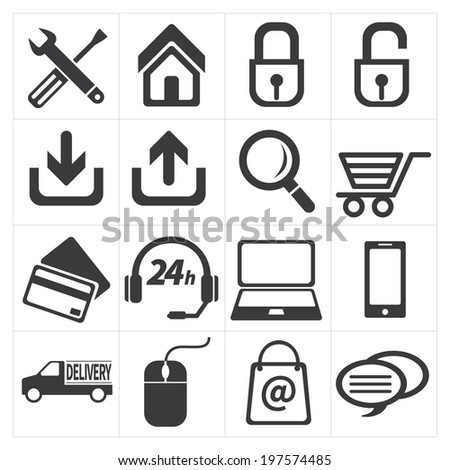 icon e commerce and shopping - stock vector