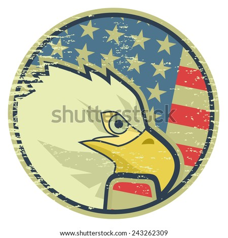 Icon eagle - stock vector