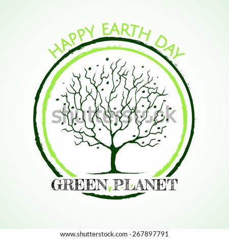 Icon Earth Day.  - stock vector
