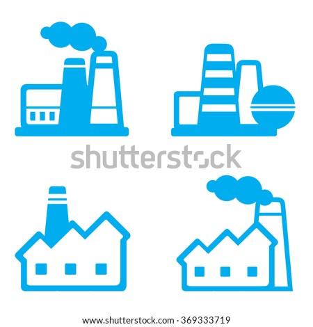icon factory smokestack tube - stock vector