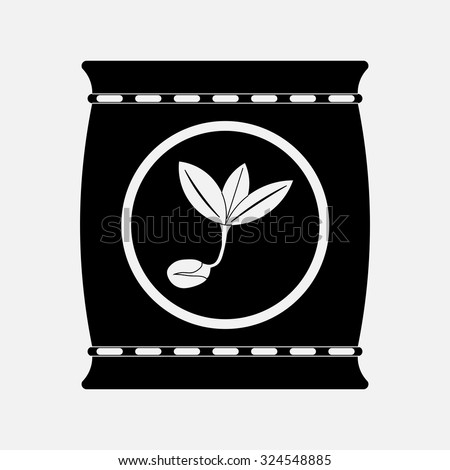icon fertilizers, plant growth, fully editable vector image - stock vector