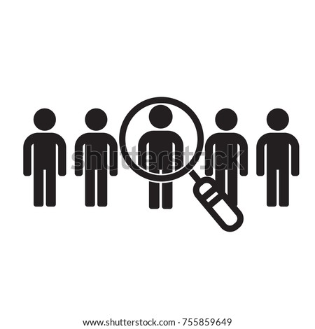 Icon find talent. Candidate search for employees and job