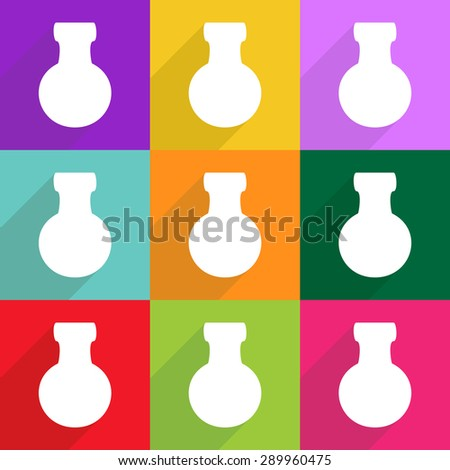 icon, flat, vector, design, news, image, medical set, medical icon, medical vial - stock vector
