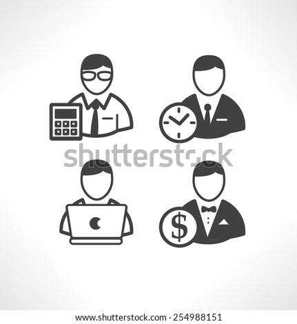 Icon for website and mobile application. Flat design. Vector. Editable. Peoples. - stock vector