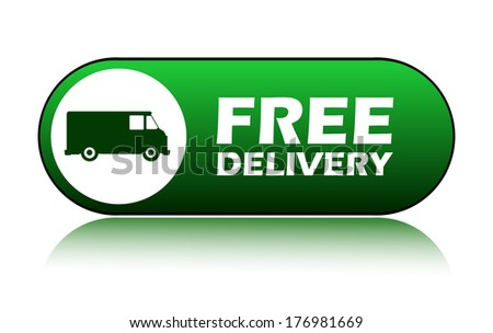 Icon free delivery, vector